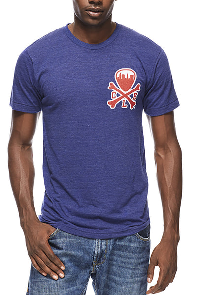 CLE Logo - Navy/Red - Unisex Crew - Blue - CLE Clothing Co.