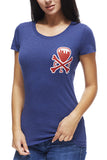 CLE Logo - Navy/Red - Womens Crew - CLE Clothing Co.