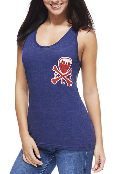 CLE Logo - Navy/Red - Unisex Tank