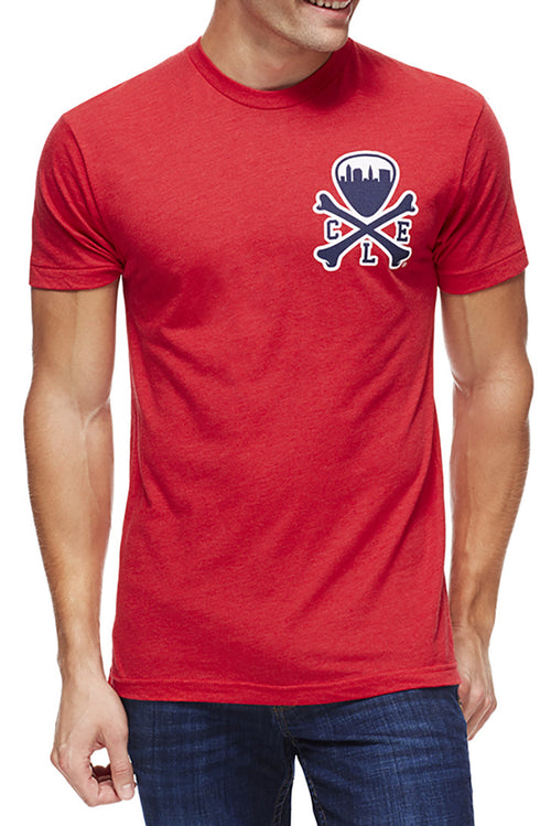 CLE Logo - Navy/Red - Unisex Crew - CLE Clothing Co.