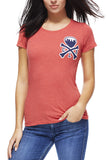 CLE Logo - Ballpark Red - Womens Crew