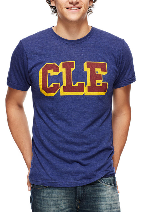 CLE Logo Hardcourt - Womens Crew - Tri Cranberry