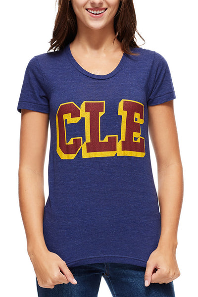 CLE College - Wine/Gold - Womens Crew - CLE Clothing Co.