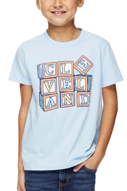 Cleveland Blocks - Tri Blue - Kids Crew