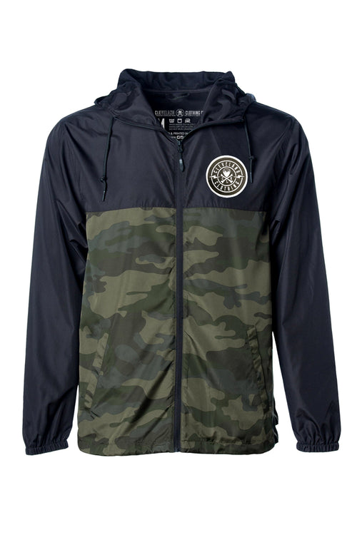 Cleveland Patch Unisex Windbreaker - Black/Camo