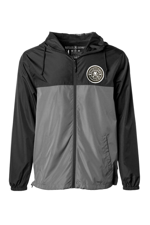 Cleveland Patch Unisex Windbreaker - Black/Graphite