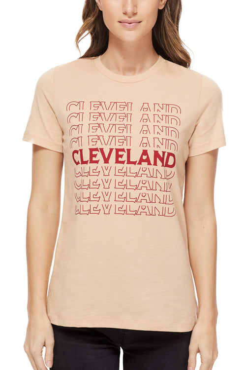 Cleveland Repeat Womens Relaxed Fit Crew - CLE Clothing Co.