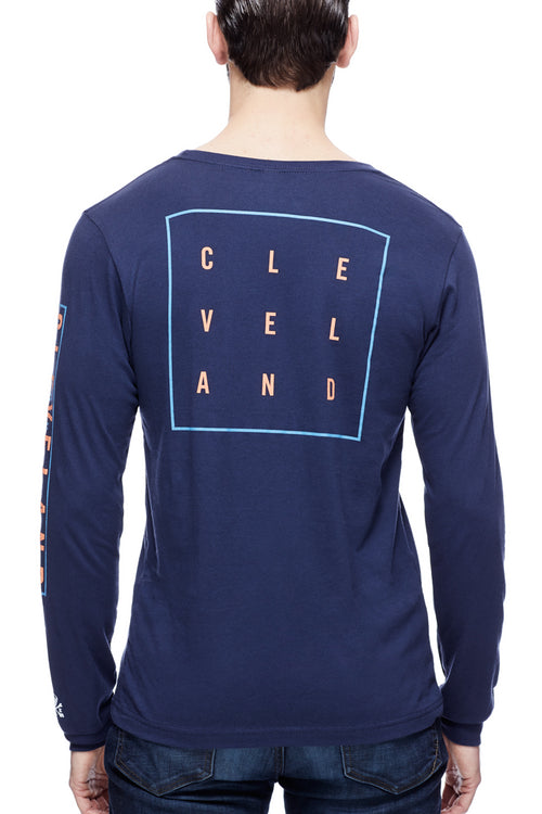 Cleveland Square - Unisex Long-Sleeve Crew - Navy