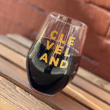 Stacked Cleveland 19oz Stemless Wine Glass