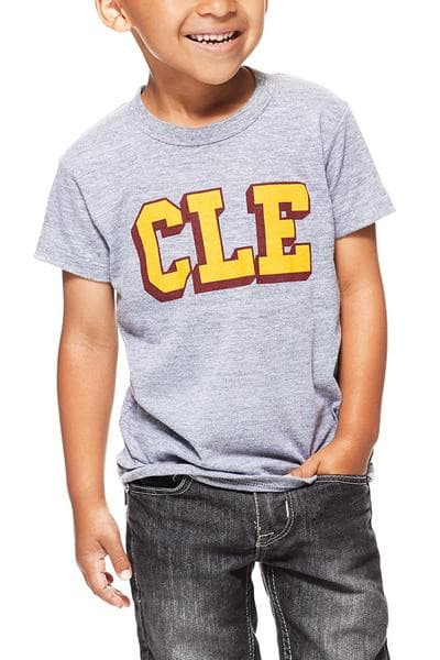 CLE College - Wine/Gold - Kids Crew - CLE Clothing Co.