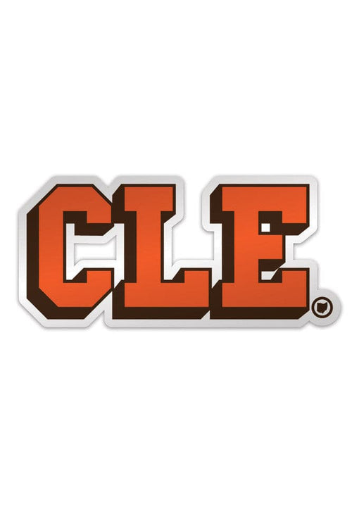 CLE College - Brown/Orange - Sticker - CLE Clothing Co.
