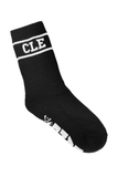 CLE College Socks - Black/White - CLE Clothing Co.