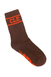 CLE College Socks - Brown/Orange - CLE Clothing Co.