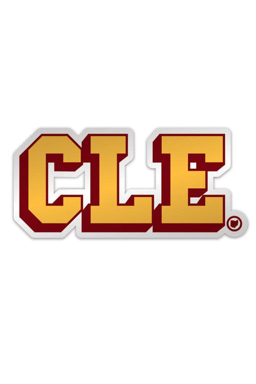 CLE College - Wine & Gold - Sticker - CLE Clothing Co.