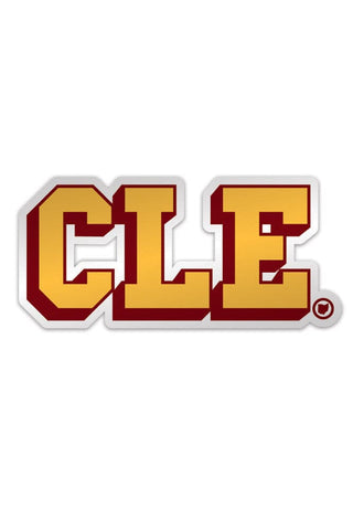 CLE College - Wine & Gold - Sticker