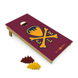 Logo Cornhole Set - Wine/Gold