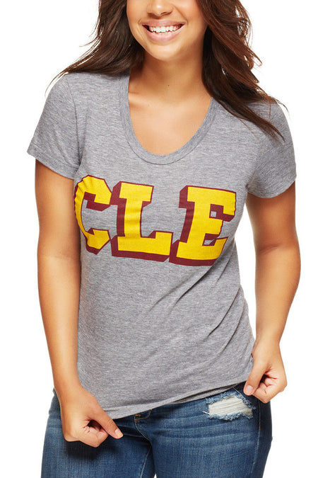 CLEVE LAND Carnation - Womens Relaxed V-Neck