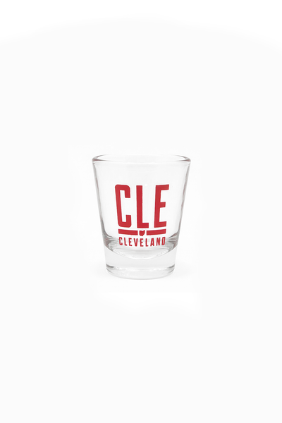 CLE Airport Code Shot Glass - CLE Clothing Co.