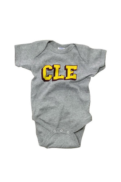 CLE College - Wine/Gold - Onesie - CLE Clothing Co.