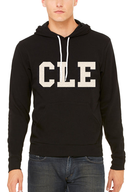 CLE College - Black/White - Unisex Pullover Hoodie