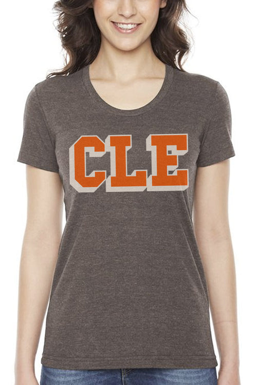 CLE College Brown & Orange - Womens Crew - CLE Clothing Co.