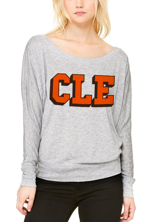 CLE College - Brown/Orange - Women's Light-Weight Pullover