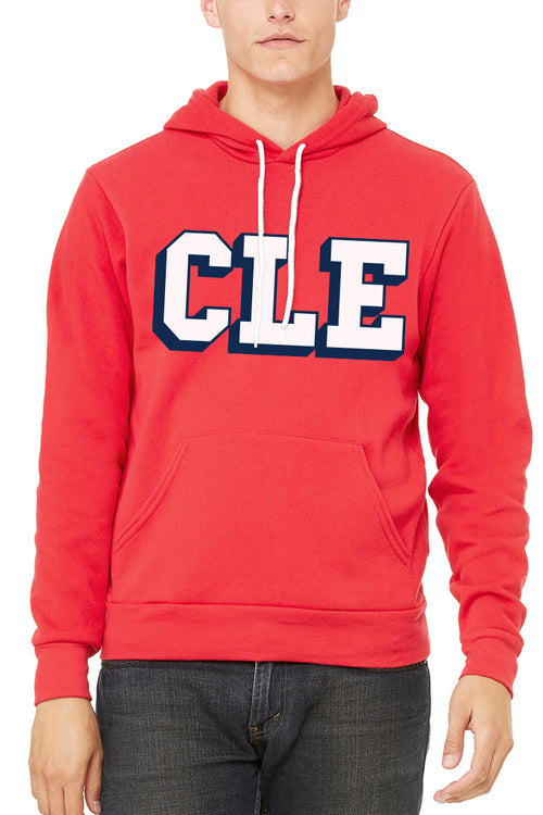 CLE College - Red - Unisex Pullover Hoodie - CLE Clothing Co.