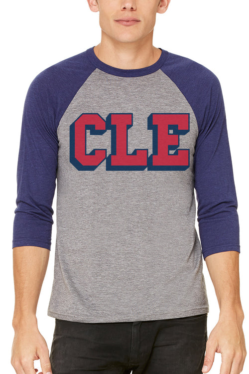 CLE College - Navy/Red - Unisex Raglan - CLE Clothing Co.