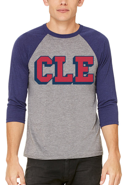 CLE College - Navy/Red - Unisex Raglan