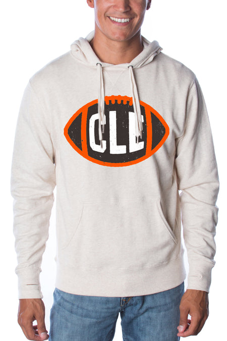 Cleveland Script - Unisex Long Sleeve Crew - Heather Black