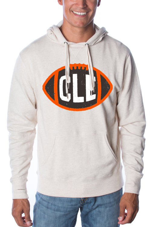 CLE Football - Unisex Pullover Hoodie - CLE Clothing Co.