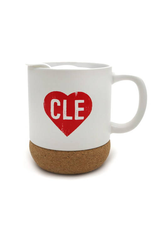 CLE Heart Cork Coffee Mug