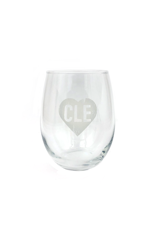 CLE Heart Stemless Wine Glass