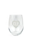 CLE Heart Stemless Wine Glass - CLE Clothing Co.