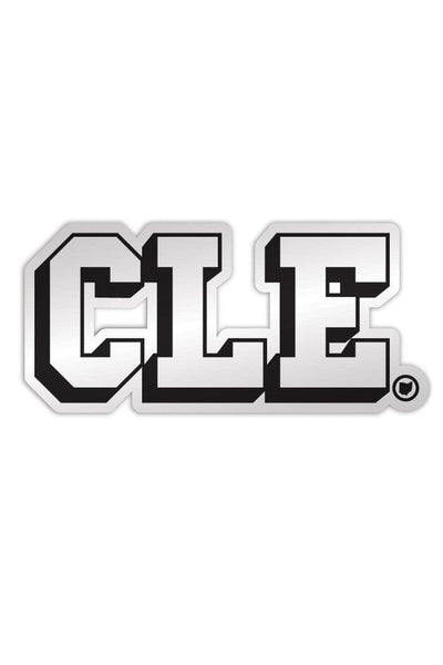CLE College - Black & White - Sticker - CLE Clothing Co.