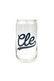 CLE Script Pop Can Glass