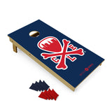 Logo Cornhole Set - Navy/Red
