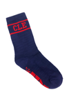 CLE College Socks - Navy/Red - CLE Clothing Co.