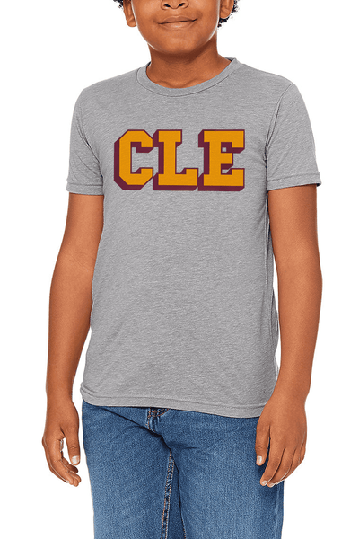 CLE College - Wine/Gold - Youth Crew - CLE Clothing Co.