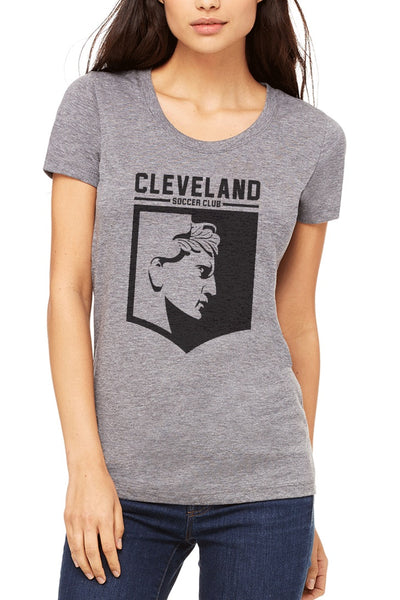Cleveland Soccer Club Logo - Grey - Womens - CLE Clothing Co.