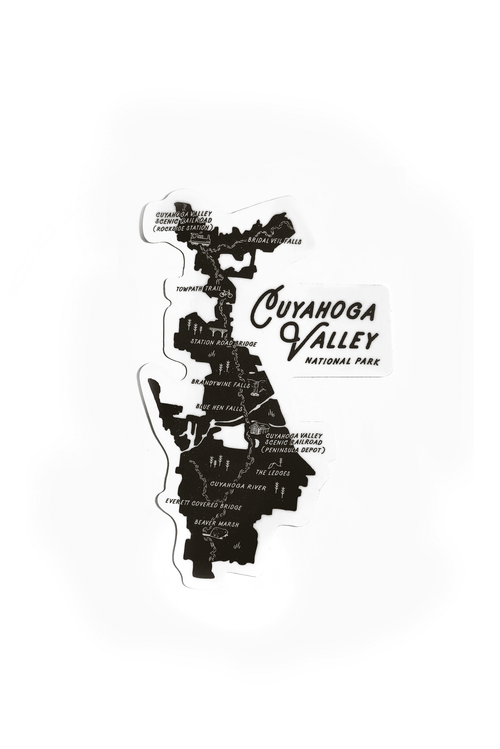 CVNP Map Sticker - CLE Clothing Co.