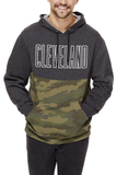 CLEVELAND Block Outline - Unisex Two Tone Camo Pullover Hoodie