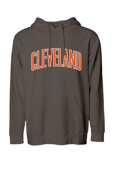 Cleveland Arch - Brown/Orange - Unisex Pullover Hoodie