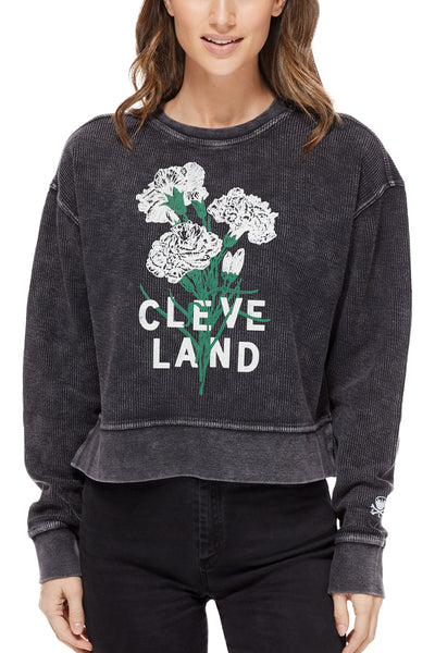 CLEVE LAND Carnation Corded Crew