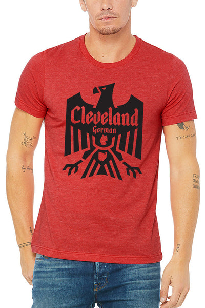 Cleveland German - Red - Unisex Crew - CLE Clothing Co.