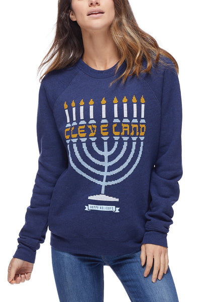 Cleveland Menorah - Fleece Crew - CLE Clothing Co.
