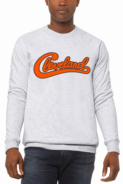 Groovy Cleveland Script - Unisex Fleece Crewneck Sweatshirt - CLE Clothing Co.