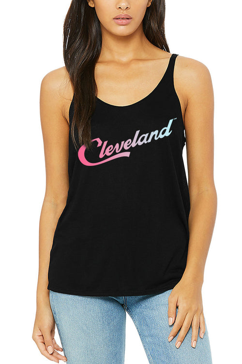 Cleveland Script Ombre - Womens Slouchy Tank