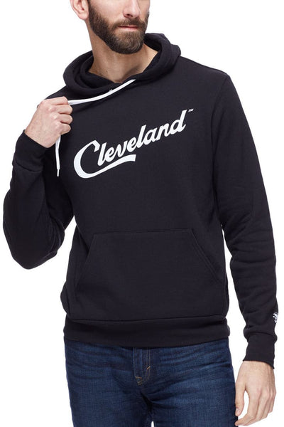 Cleveland Script - Pullover Hoodie - Black - CLE Clothing Co.