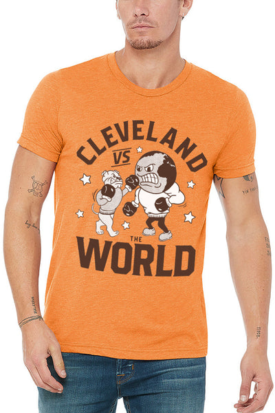 Cleveland vs The World - Unisex Crew - Orange - CLE Clothing Co.